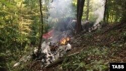 На месте падения двух самолетов в Словакии (20 августа)