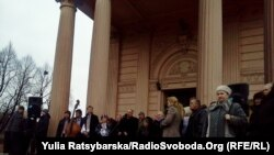 Музиканти органного залу протестують проти передання будівлі церкві