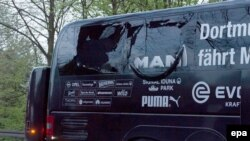 Borussia Dortmund's team bus was hit by three explosions on April 11.