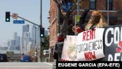 Акция за отмену квартплаты для потерявших работу в Калифорнии