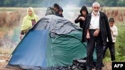 Migrantë në Gjevgjeli, pamje nga arkivi.