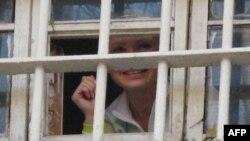 Юлия Тимошенко Киев түрмесінде. Киев, 4 қараша, 2011 жыл.