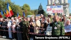 Protest în Piața Marii Adunări Naționale de la Chișinău, imagine de arhivă.