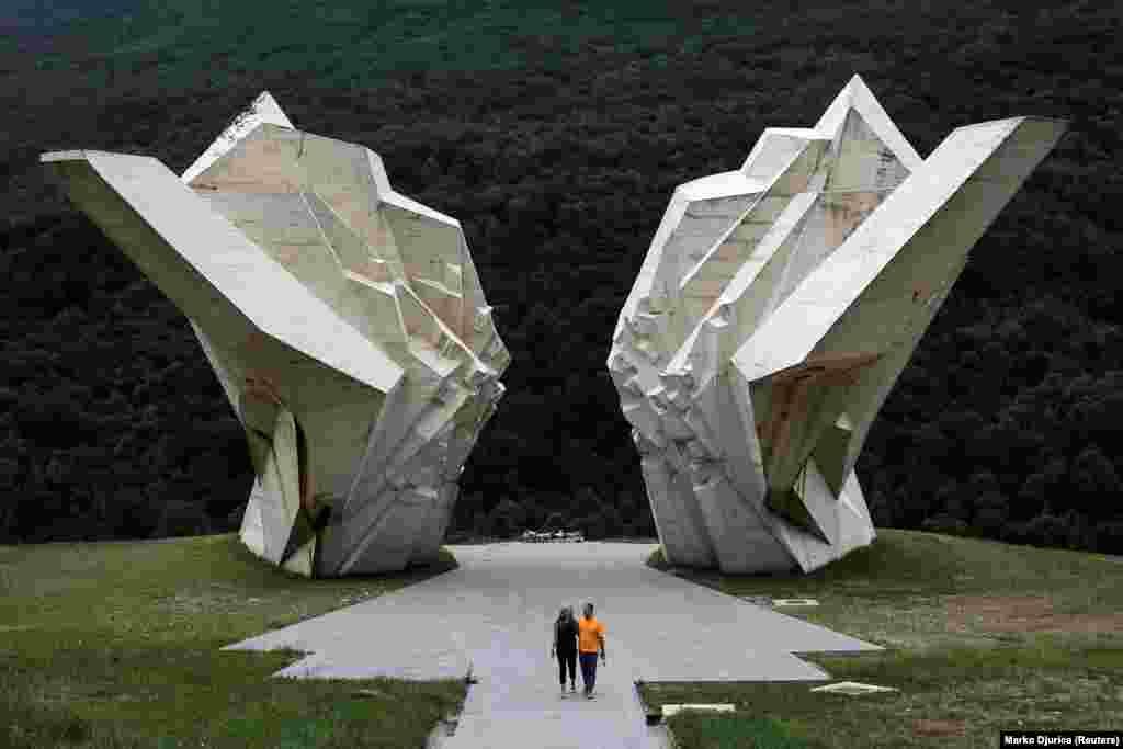 Мемориал павшим в битве на Сутьеске в годы Второй мировой войны. Тьентиште, Босния и Герцеговина.