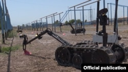 Armenia - Demining robots are used during a U.S. training course organized for Armenian army sappers, 15Jul2016.