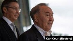 Бывший президент Казахстана Нурсултан Назарбаев в смокинге на церемонии интронизации японского императора Нарухито. Токио, 22 октября 2019 года.