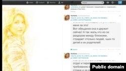 Гүлнара Каримованың Twitter-дегі парақшасынан скриншот. 21 қараша 2013 жыл.