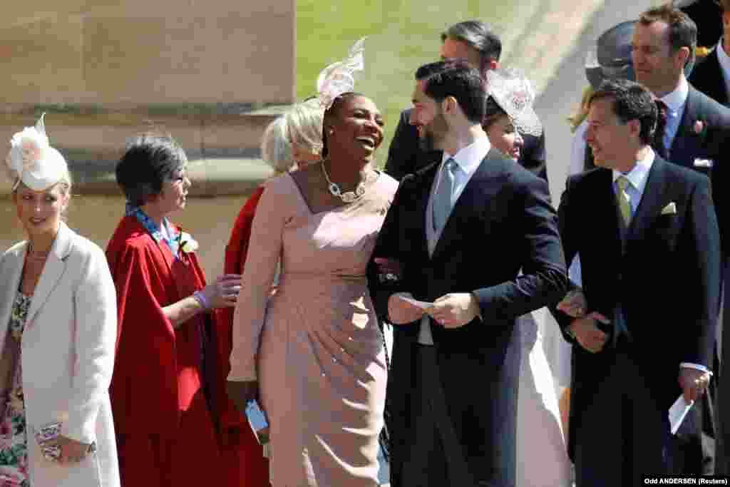 Подруга Меган Маркл, американская теннисистка Серена Уильямс с мужем, американским предпринимателем Алексисом Оганяном.