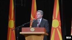 Обраќање на претседателот Ѓорге Иванов на свечена академија по повод 11 Октомври- Денот на народното востание, Скопје, Македонија