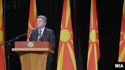 Архивска фотографија - Обраќање на претседателот Ѓорге Иванов на свечена академија по повод 11 Октомври.