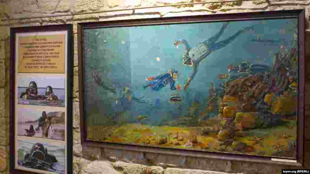 Картина пензля військового, на якій зображена робота загону підводників спеціального призначення