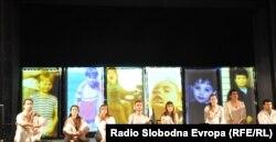 Izvođenje predstave Hipermnezija u Narodnom pozorištu u Prištini