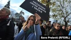 Protest protiv političkih pritisaka na javni servis Crne Gore