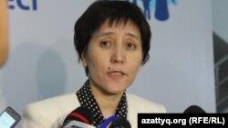 Тамара Дүйсенова, еңбек және халықты әлеуметтік қорғау министрі.