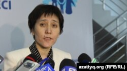 Қазақстанның еңбек және xалықты әлеуметтік қорғау министрі Тамара Дүйсенова.