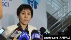 Министр труда и социальной защиты населения Тамара Дуйсенова. Шымкент, 5 апреля 2017 года.