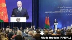 Аляксандар Лукашэнка на форуме «Менскі дыялёг»
