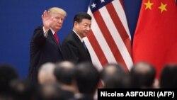 Presidenti i SHBA-së, Donald Trump dhe presidenti i Kinës, Xi Jinping