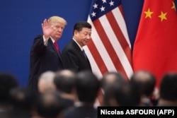 Дональд Трамп и председатель КНР Си Цзиньпин, ноябрь 2017 года