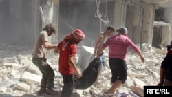Пригород Алеппо после российских бомбардировок, Сирия, 11 октября 2016 года