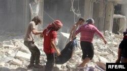 Передмістя Алеппо після російського бомбардування, Сирія, 11 жовтня 2016 року
