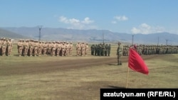 Armenia - Russian and Armenian troops hold joint exercises at the Alagyaz shooting range, 5Sep2014.