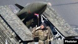 Ракета «Точка» российского производства на параде в Ереване, 21 сентября 2016 г.
