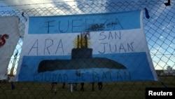 Poruka na argentinskoj zastavi u trenutku nestanka 44 člana posade podmornice