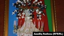 Люстра с символикой, изготовленная Сабиром Мусеибовым в честь Гейдара Алиева
