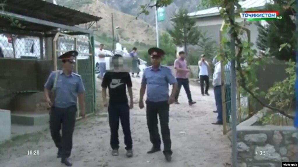 Акс аз навори Вазорати корҳои дохилии Тоҷикистон