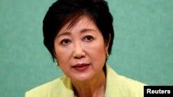 Юрико Коикэ, избранная губернатором Токио