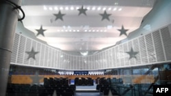 France - This inside of the European Court of Human Rights (ECHR) in Strasbourg, eastern France, on February 7, 2019.