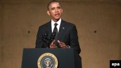 АҚШ президенті Барак Обама. Нью-Йорк, 15 мамыр 2014 жыл.