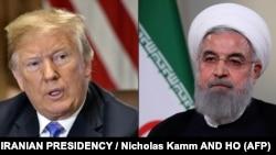 حسن روحانی (راست) میگوید آمریکاییها هرگز قادر نخواهند بود که ایران را به گذشته برگردانند و ایران در مسیر پیش رو حرکت میکند.