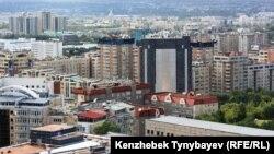 Общий вид на город Алматы.
