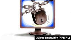 Блокировка. Карикатура Галыма Смагулулы.
