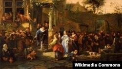 Ян Стэн, «Вясковае вясельле», 1653