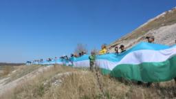 Bashkortostan -- Ufa -- Flashmob to protect Bashkir mountains Shihany -- 12May2018