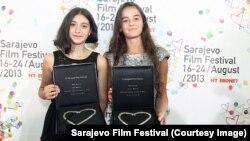 Lika Babluani i Mariam Bokeria sa nagradama