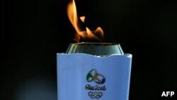Факел Олимпиады-2016 в Рио-де-Жанейро
