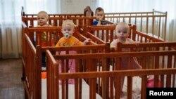 Детский дом, эвакуированный в Краматорск, 30 августа 2014 года
