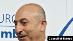 France - Movlud Cavusoglu, President of the Parliamentary Assembly of the Council of Europe, 25Jan2010