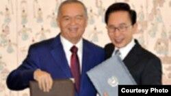 Ўзбекистон Президенти И.Каримов ва Корея Республикаси Президенти Л.М.Бак.