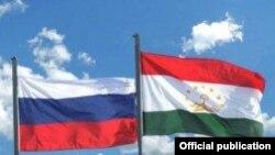 بیرق تاجیکستان و روسیه