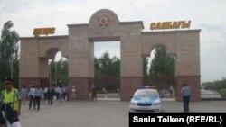 У парка Победы в городе Атырау.