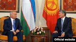 Алмазбек Атамбаев менен Ислам Каримовдун Бишкектеги жолугушуусу. 12-сентябрь, 2013-жыл.