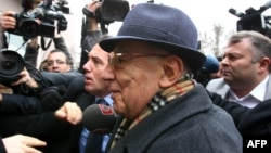 Former Turkish Army chief General Ismail Hakki Karadayi arrives at a courthouse in Ankara in January.