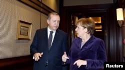Թուրքիայի նախագահ Ռեջեփ Էրդողանի և Գերմանիայի կանցլեր Անգելա Մերկելի հանդիպումը Անկարայում, 8-ը փետրվարի, 2016 թ․