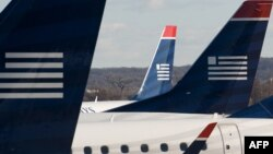 US Airways ավիաընկերության ինքնաթիռները օդանավակայանում, արխիվ