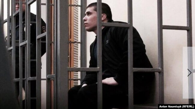 Редван Сулейманов на суде в Симферополе. Январь 2018 года